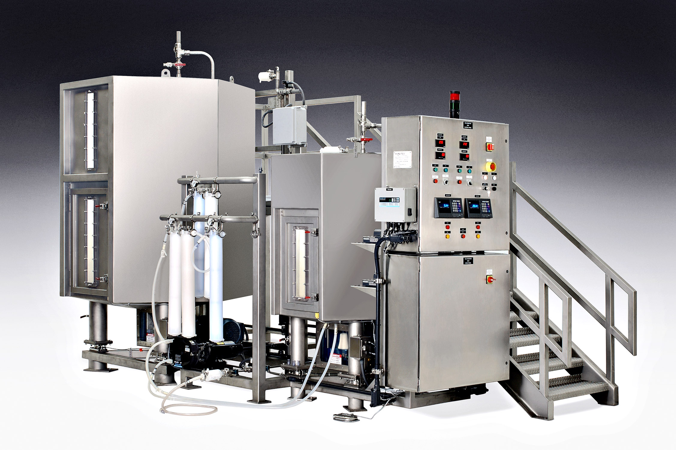 After-Pharmaceutical mixing equipment photographed before completion.